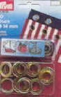 Occhioli ottone 40 pezzi da mm.5,5 nichelati