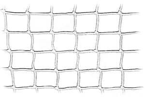Rete in nylon bianca alta cm. 60 Annodata