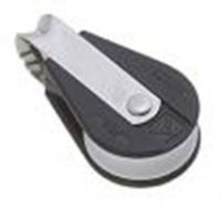 Bozzello fisso nylon nero acc.inox 1 puleggia mm08