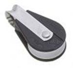 Bozzello fisso nylon nero acc.inox 1 puleggia mm10