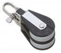 Bozzello nylon nero acc.inox 2 pulegge mm 10
