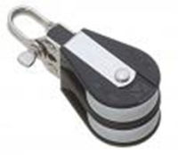 Bozzello nylon nero acc.inox 2 pulegge mm 12