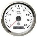 Contagiri elettronico scala 0-8000 RPM con contaore digitale