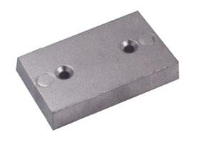 Anodo a placca da mm. 100x50x8 peso gr. 300