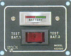 Pannello elettrico BATTERY TEST
