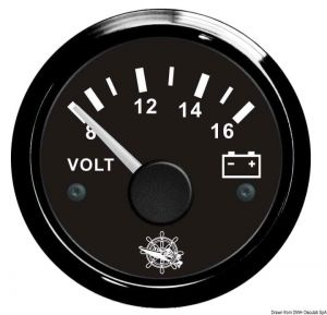 Voltometro scala 8-16 12 V.