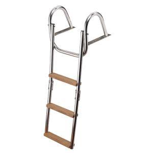 Scaletta pieghevole a ribalta 3 gradini legno