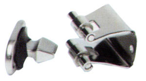 Fermaporta in acc. Inox base mm .35x20